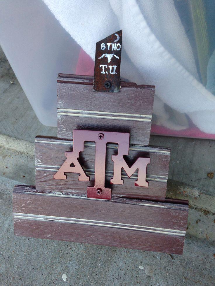 Texas A & M Aggie Bonfire Decor $25