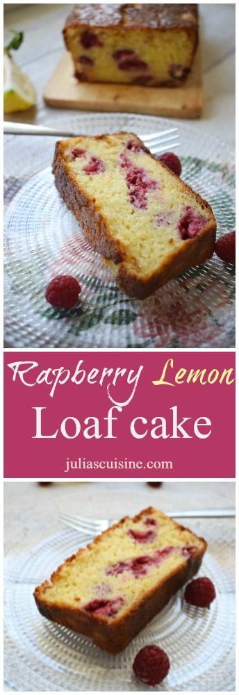 Raspberry & Lemon Loaf Cake  http://www.juliascuisine.com/home/raspberry-lemon-loaf-cake