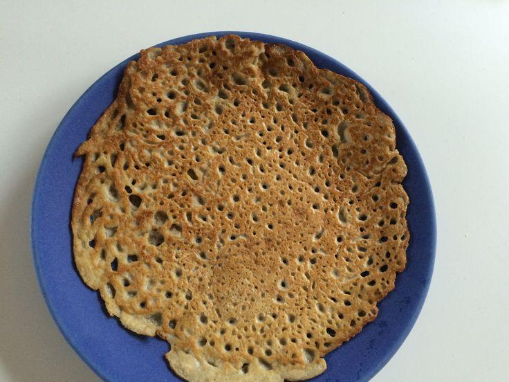 Glutenfria och laktosfria pannkakor på bovete