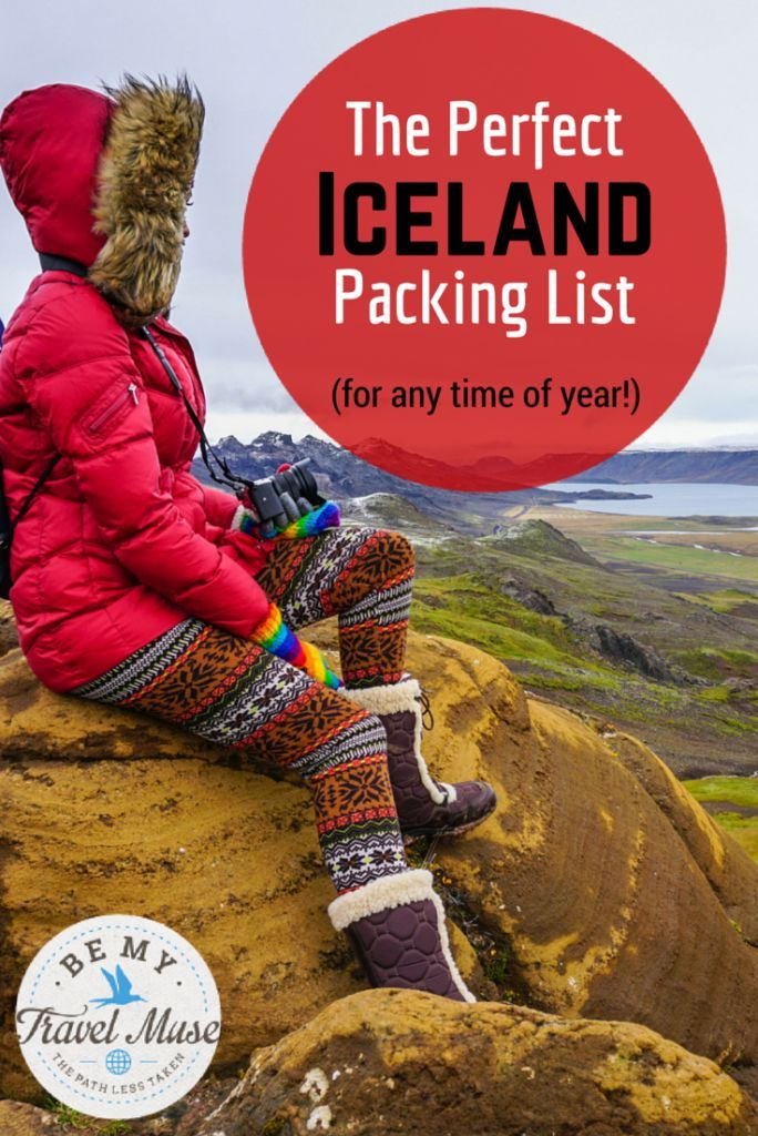 Extensive Iceland packing list for any time of year. Although Kristin definitely knows how to pack for cold weather!