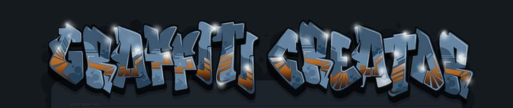Graffiti Creator - type in any name/word -adjust creative choices- free prints for non-commercial use