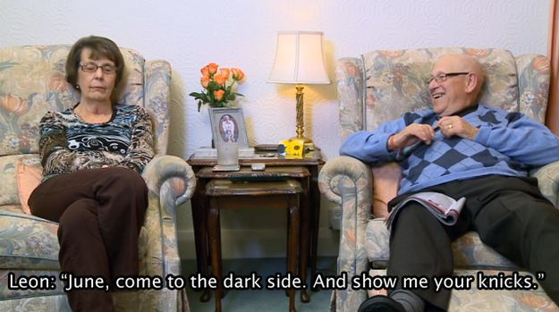 """And incredibly inappropriate things as well. Leon once said this to June at the end of a Star Wars film. 