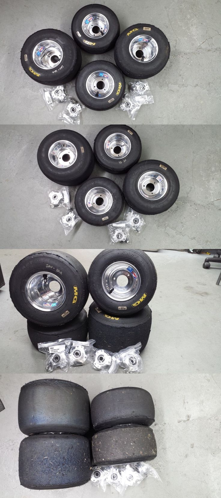 Parts and Accessories 64657: Go Kart Wheels, Go Kart Tires, Radio Flyer Wagon Tires, W/Wheel Hubs, Set Of (4) -> BUY IT NOW ONLY: $229 on eBay!