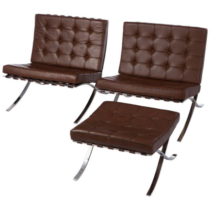 knoll barcelona chair for sale