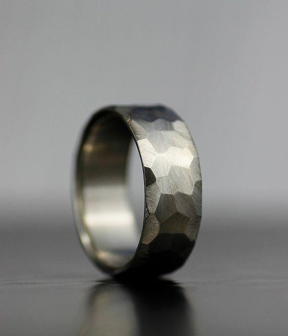 mens wedding band palladium sterling silver wedding band by lolide