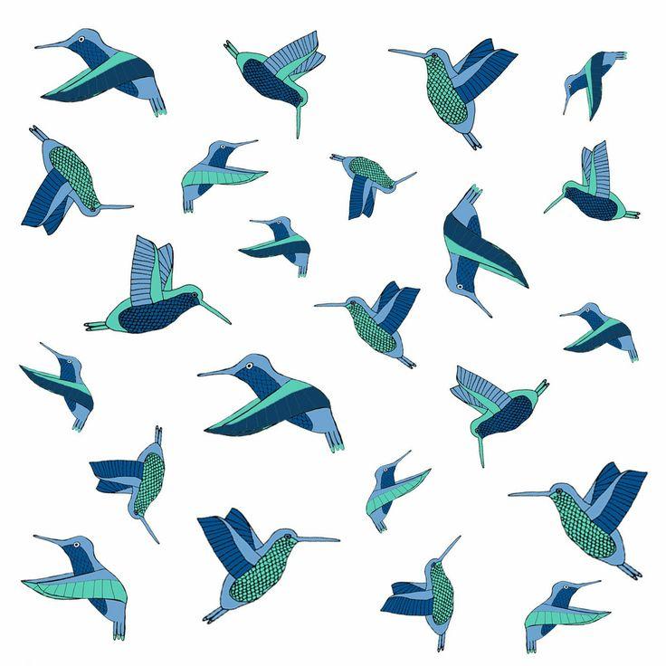 Diseño textil pájaros de América