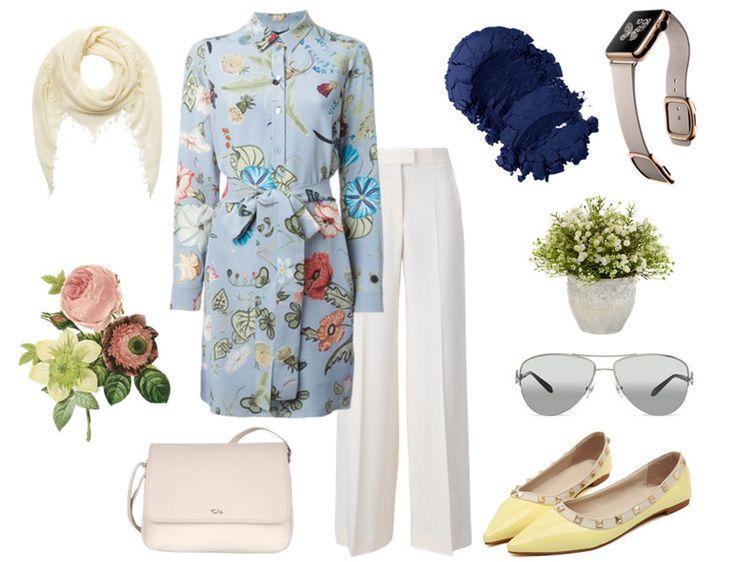 Tesettür kombin - Günümüzde 70'ler modası - Çiçekli tunik gömlek kombini  http://www.yesiltopuklar.com/gecmisten-gelen-trend-70ler.html