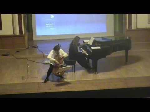 GUY BACOS - Romantic Variations cello & piano ( Rodin Moldovan & Ioana L...