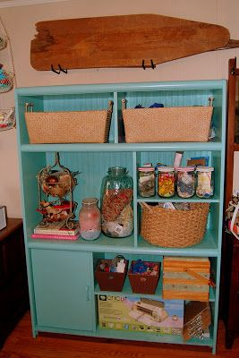 Cheap Entertainment Center Re-do... into a craft storage unit. - Mandi Shandi's