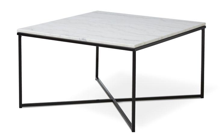 Njut av den råa skönheten med marmor och metall i vårt stilrena soffbord Novali. En skön materialmix som tillsammans med den enkla designen gör bordet tidlöst. Marmor är en natursten vilket gör varje skiva unik, där charmen med bordet är de skillnader i nyans, ådring och glans som förekommer. Novalis nätta underrede i lackerad metall ger ett stabilt soffbord med luftig känsla. Enkelheten med Novali gör att bordet passar i de flesta miljöer och till många av våra soffor. Marmor är ett poröst…
