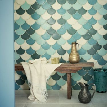 In case I win the lottery Cabaret Opal - Glazed & Decorated - Shop by tile type - Wall & Floor Tiles | Fired Earth