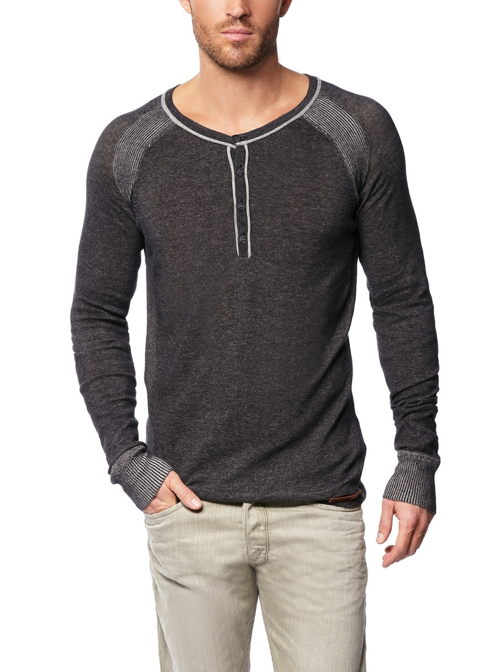 Grey cotton Henley