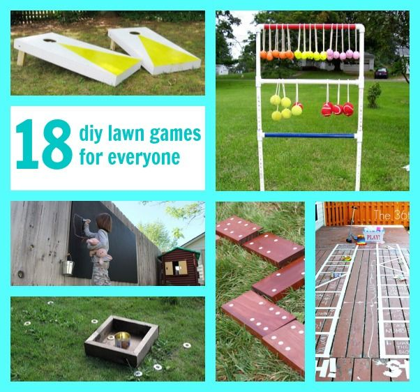 18 DIY lawn games for the entire family!