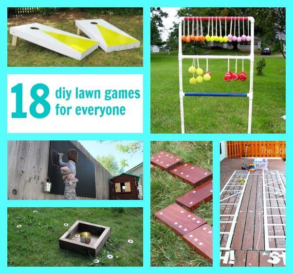 18 DIY lawn games