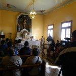 Los periodistas participaron de la misa de acción de gracias en su día