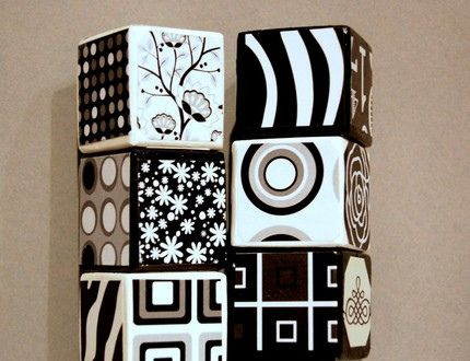 High contrast black and white patterns are perfect for a newborns visual stimulation and