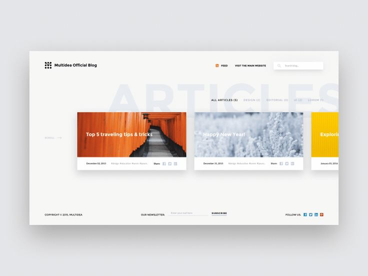 Blog Page Layout