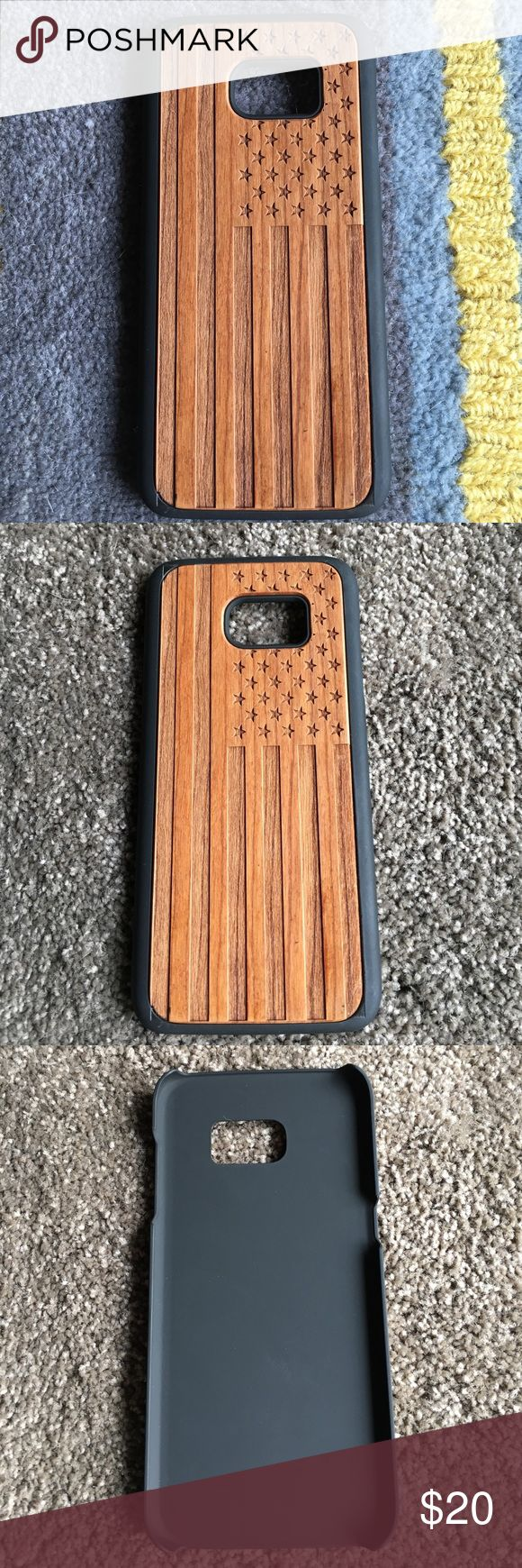 Samsung 7S EDGE Wooden Case. Hand finished real wood cover combined with a polycarbonate case.  Unique natural wood grain and finish precision laser cut and engraved wood natural feel and finish. Accessories Phone Cases