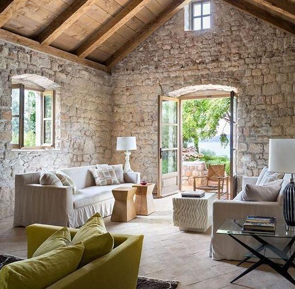 15 Elegant Stone Wall Interior Designs