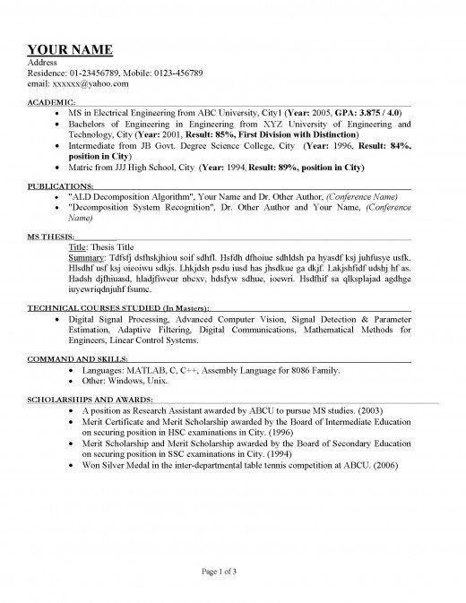 Best 25+ Good resume templates ideas on Pinterest Good resume - proper resumes