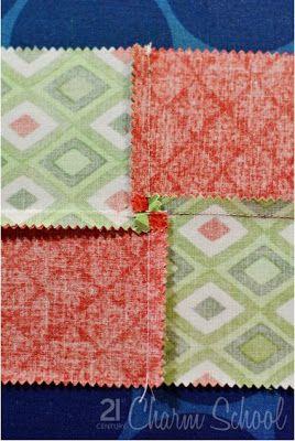 Deshilachado: Bloques de patchwork. Tutoriales. / Edredón bloques tutoriales.