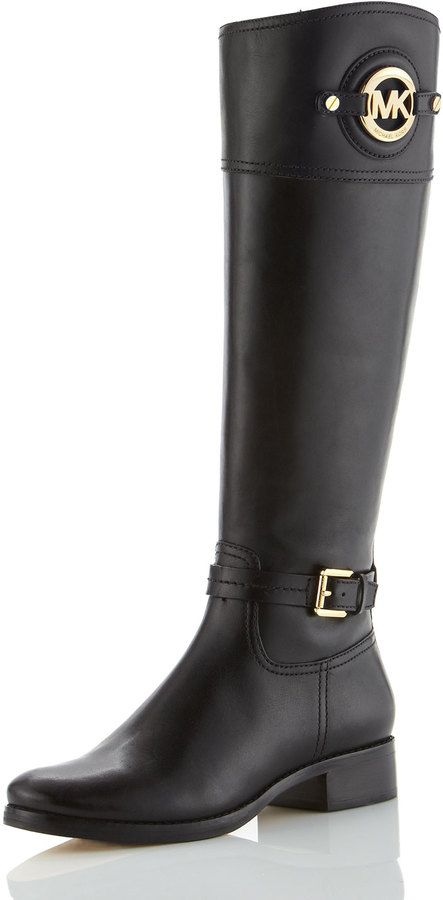 MICHAEL Michael Kors Stockard Leather Riding Boot on shopstyle.com