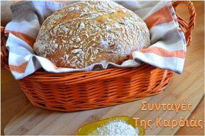 ΣΥΝΤΑΓΕΣ ΤΗΣ ΚΑΡΔΙΑΣ: Ψωμί στην γάστρα χωρίς ζύμωμα