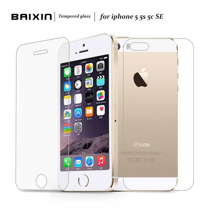 2 pcs/lot Front + Back Premium Tempered Glass for iPhone 5s 5c 5 se  Anti-scratch 0.25D Screen Protector Film for iPhone5 s [Affiliate]