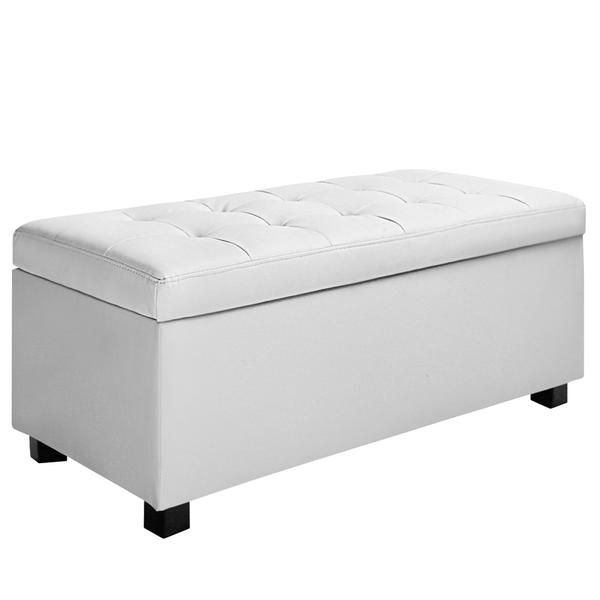 Large Ottoman PU Leather Chest Storage Box Foot Stool White – Click Online  Sales - 25+ Best Ideas About Large Ottoman On Pinterest Large Living