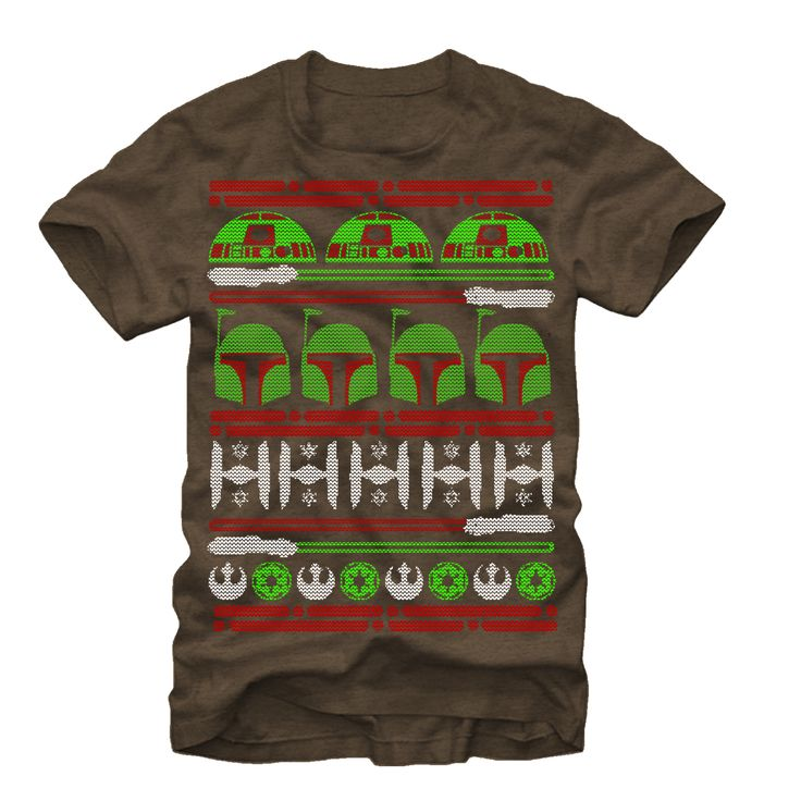 #Christmas Additional Informations Star Wars Men's Boba Fett Ugly Christmas Sweater Mocha Heather T-Shirt for Christmas Gifts Idea Deal . Deciding on a Christmas clothes  needs a number of understanding of satisfies that flatter each and every condition, proper style manners, and how you can stylize the gown. Being conscious of exactly ...