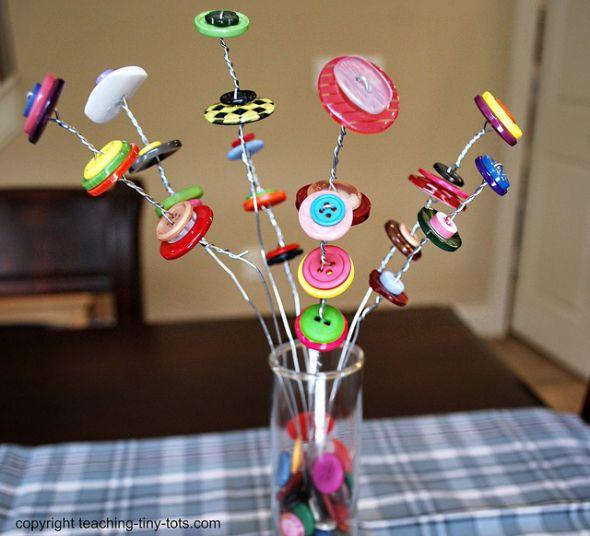 diy-button-bouquet | crafts | Pinterest | Button bouquet ...