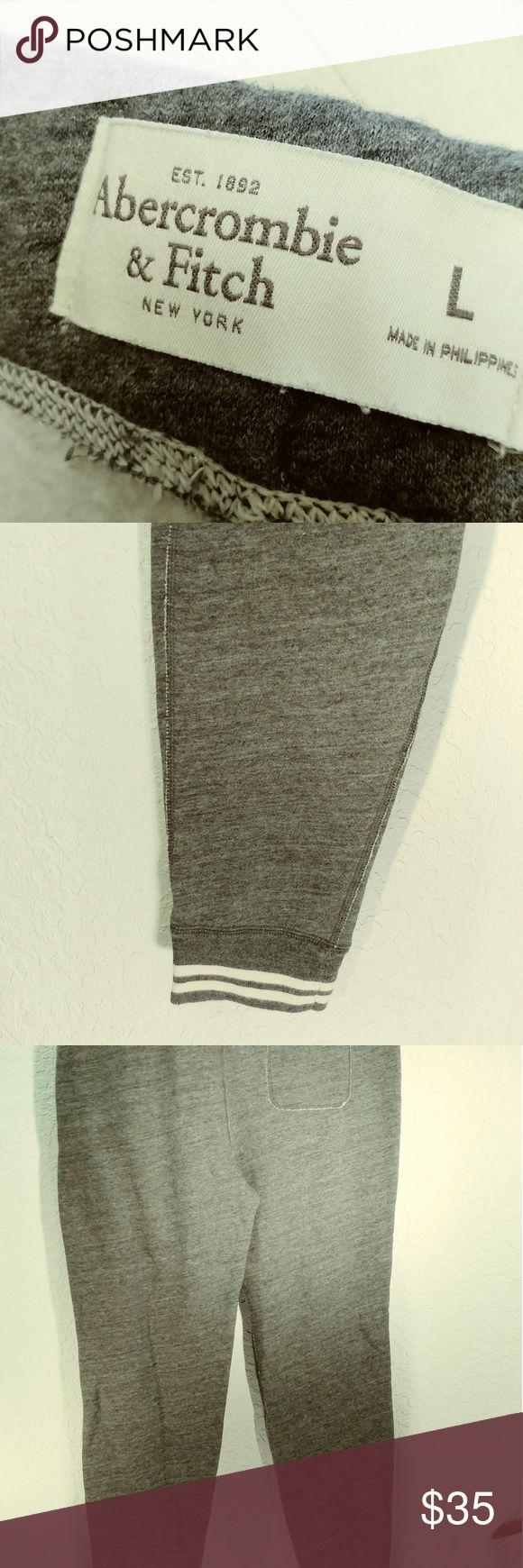 Abercrombie men's size large grey sweatpants New without tags Abercrombie men's sweatpants tapered leg size large Abercrombie Pants Sweatpants & Joggers