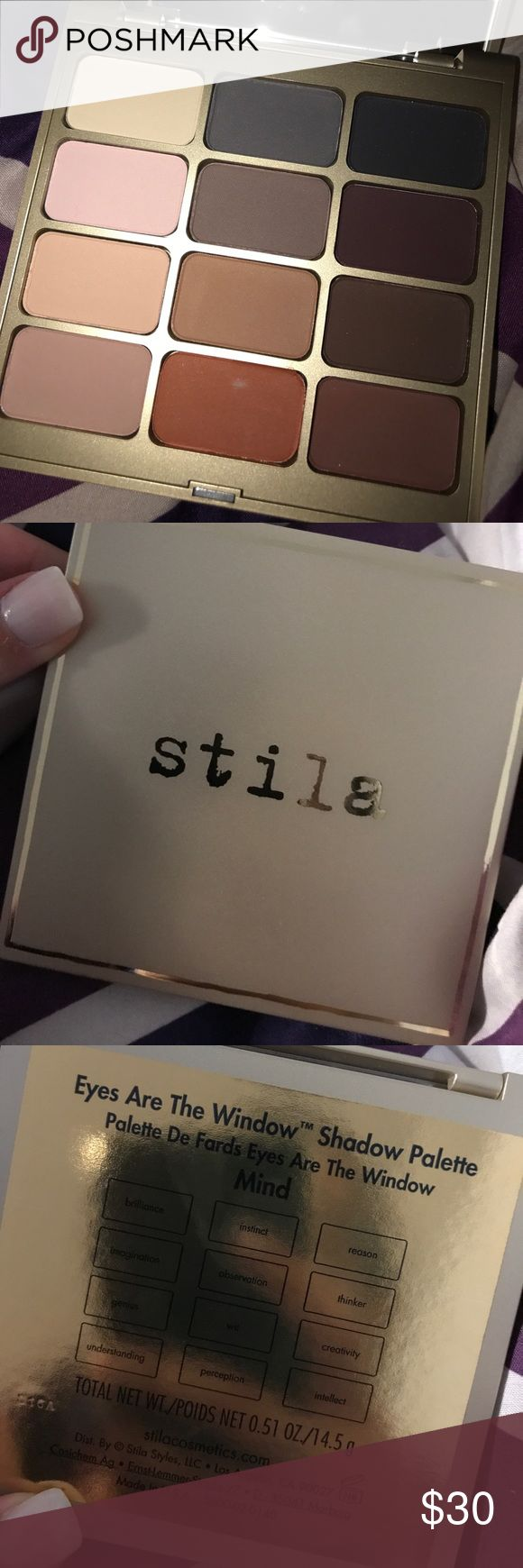"Stila make up palette Never used Stila ""eyes of wonder"" mind makeup palette. All neutral colors includes a mirror. Stila Makeup Eyeshadow"