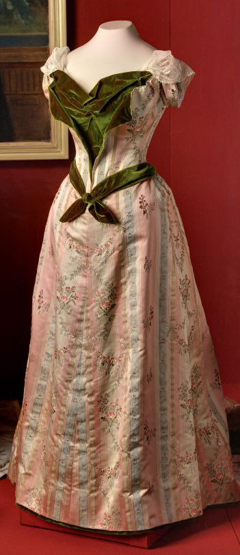 Evening Dress of Empress Marie Feodorovna, Made in Paris, 1890's
