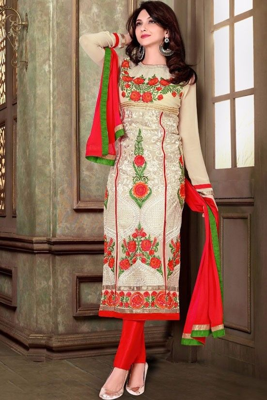 Saumya Tandon Bisque Cream Pant Kameez Set