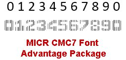 MICR CMC7 Font Advantage Package 15.01 screenshot