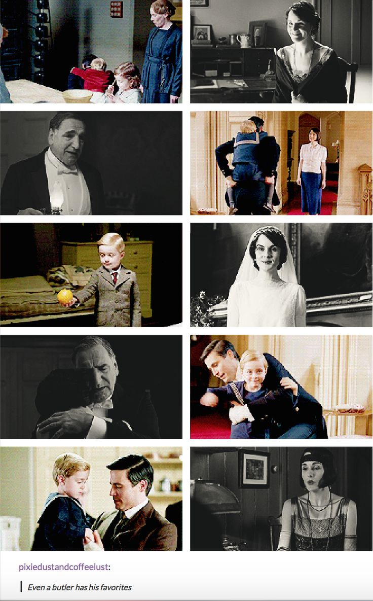 Downton Abbey | Even a butler has his favorties | Thomas Barrow and Master George | Charles Carson and Mary Crawley