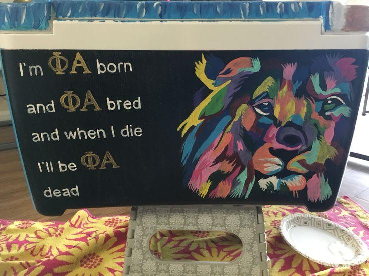 SAE lion and Phi Alpha frat cooler  – Cooler