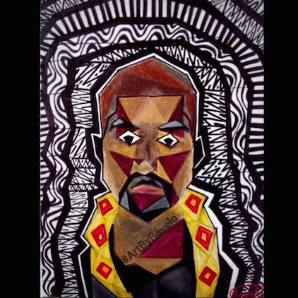 Here's A Portrait Of Kanye West With An Afro-Cubist Influence ...