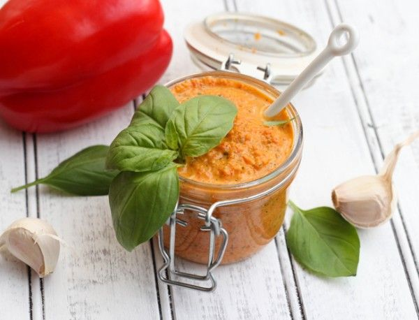 Roasted Red Pepper Pesto - Table for Two - (Been looking for a Red Pesto recipe since I left Italy!)