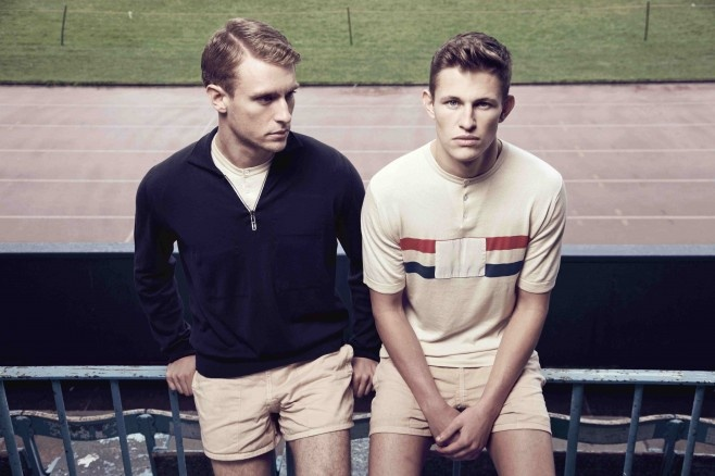 John Smedley & Umbro Collaboration. Umbro's vintage running vests worn by British athletes in 1940 and John Smedley's 225 years of manufacturing service has created two covetable pieces that celebrate two British brands in one British and sporting summer