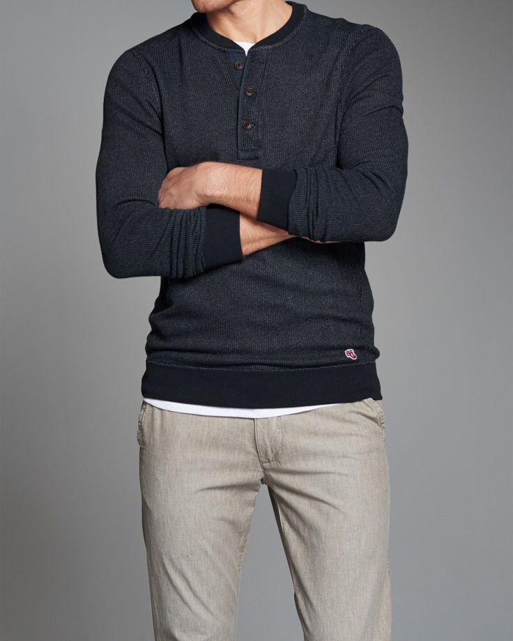 Mens Henley Sweatshirt   Mens New Arrivals   eu.Abercrombie.com