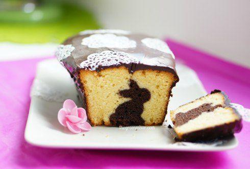 Πασχαλινό κέικ με κρυμμένο σχέδιο