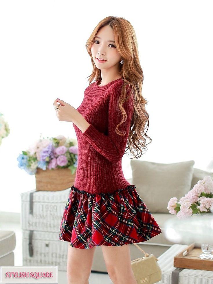 Puff Skirt Pullover Dress