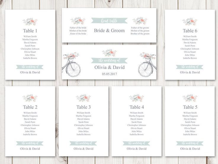 Best Wedding Invitation Templates Flower Bicycle Images On - Wedding invitation templates: seating chart template wedding