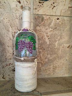 ΔΗΜΙΟΥΡΓΙΕΣ: Χειροποίητα ζωγραφισμένα γυάλινα μπουκάλια με την ...