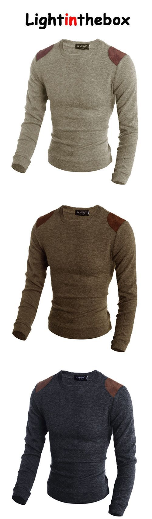 Men's Casual/Daily Long Pullover,Animal Print Round Neck Long Sleeve Cotton Fall Winter Medium Micro-elastic Pullover
