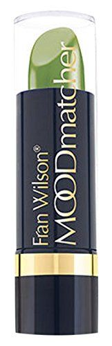 Fran Wilson Moodmatcher Lipstick, Green. Color changes according to your body chemistry. Truly personalized lip color. 12-hour long wear formula.