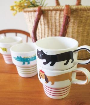 Decole : Animal Stacking Mug