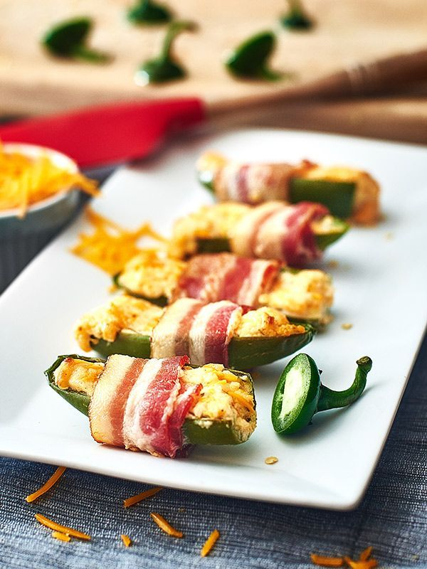 Jalapeño poppers lovers, come on over! Baked not fried, filled with cream cheese, spicy and delicious!